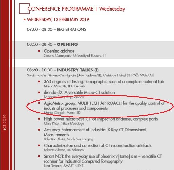 iCT 2019 Agiometrix alla Conferenza Internazionale di Padova