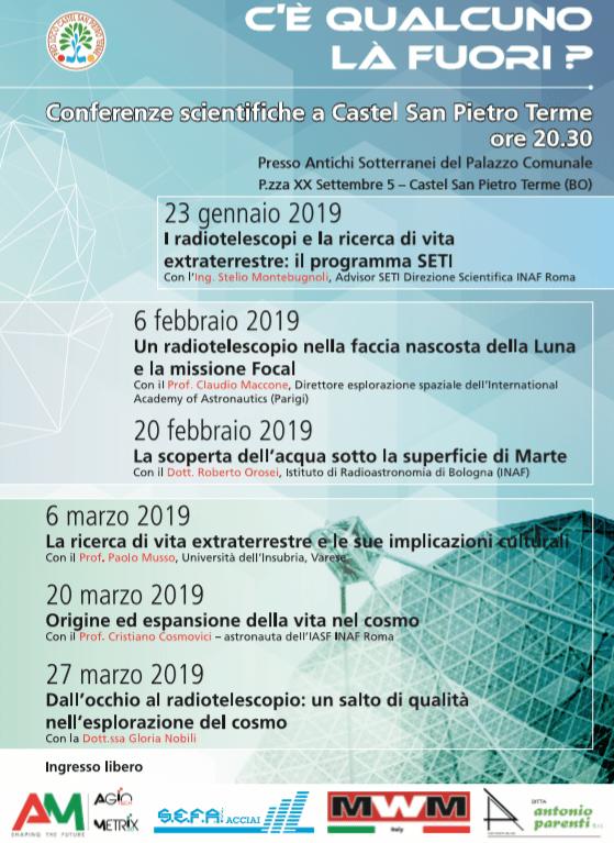 Conferenze Castel San Pietro: vita extraterrestre sì o no?