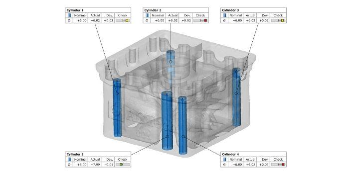 Analisi tomografiche Agiometrix con GOM CT su plastica