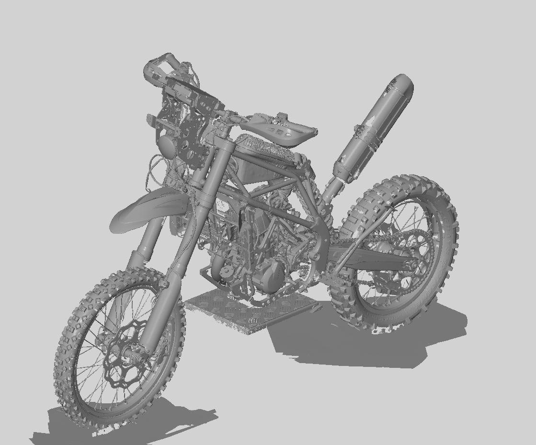 Scansione Ottica Moto scrambler - Agiometrix
