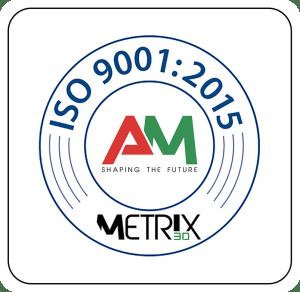certificazione iso 9001:2015 Metrix 3D